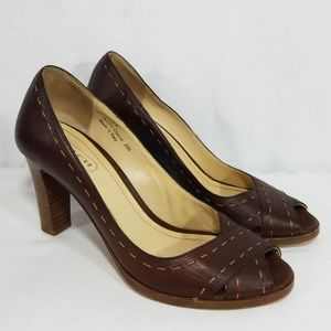 Coach Leather Peep Toe Heel